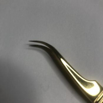 Tweezers Curved Gold