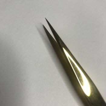 Tweezers Straight Gold